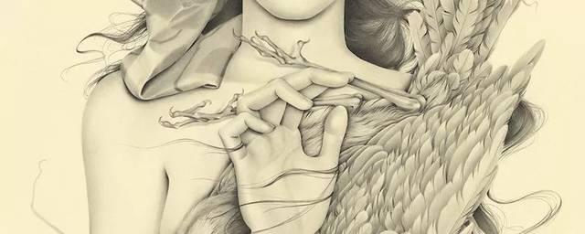 铅笔手绘漫画人物少女