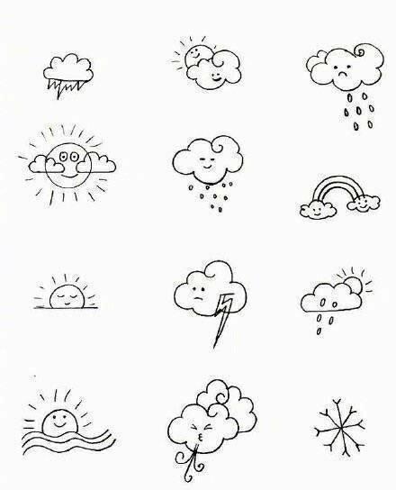 白云主题的简笔画大全,简单实用教孩子画画最简单!