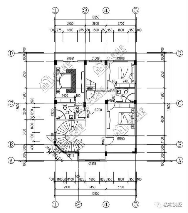 一二三楼楼梯设计图