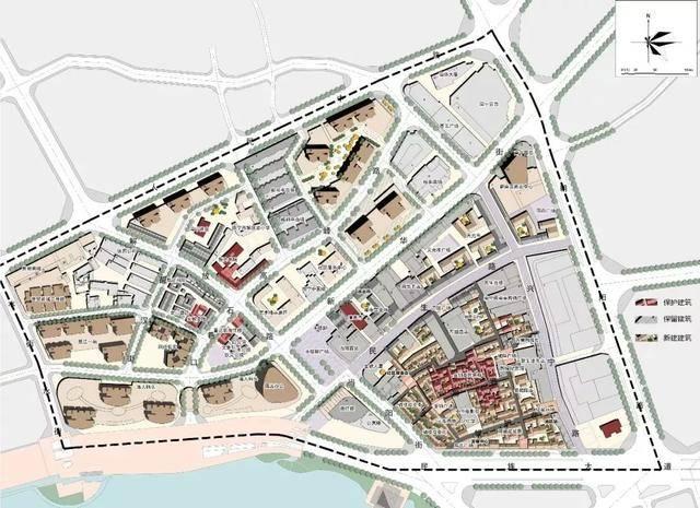 """""""三街两巷""""历史信息招聘及城市设计(深化).总平面图.新沂市建筑设计院策划街区图片"""
