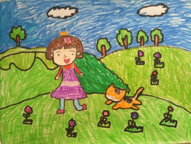 【墨竹原创】鹿楼小学二年级小朋友们的绘画作品图片