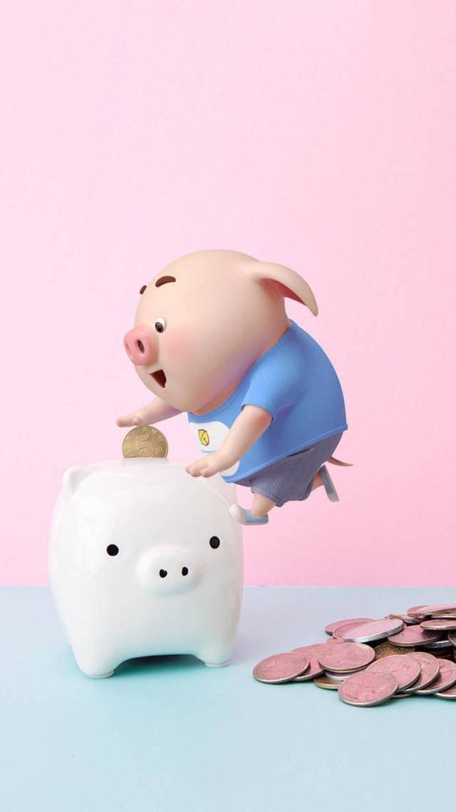 可爱卡通小猪手机壁纸 2019猪年壁纸情话猪小屁 高清无水印