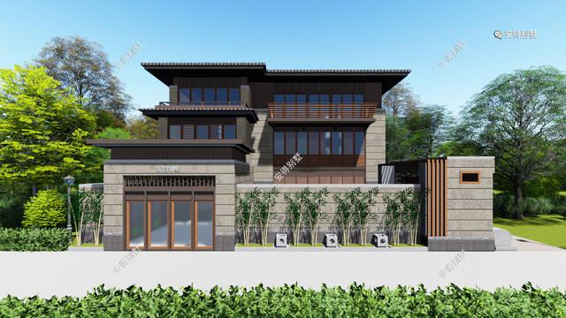 现在农村建房者喜欢新中式别墅的越来越多了,为此设计师特意精心挑选图片