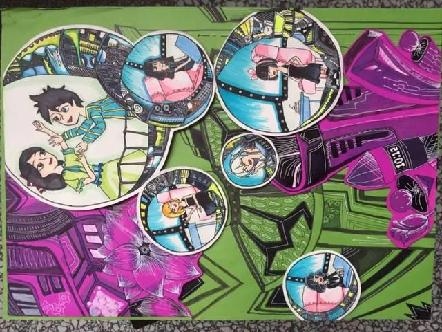 同时推选出优秀作品参加合肥市第三十五届青少年科技创新大赛科幻画图片