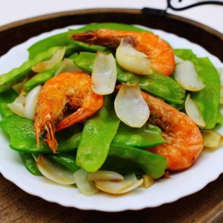 a美味v美味美味,山药海虾荷兰豆百合,小炒又下饭的家常菜材料炖菜谱的羊排图片
