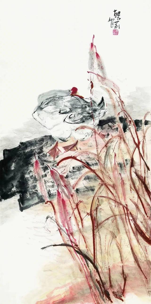天气晚来秋 138cmx68cm 王永华,中国美协会员,高级美术师,中国水墨图片