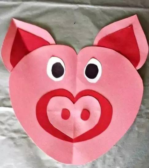 儿童手工制作猪鼻子