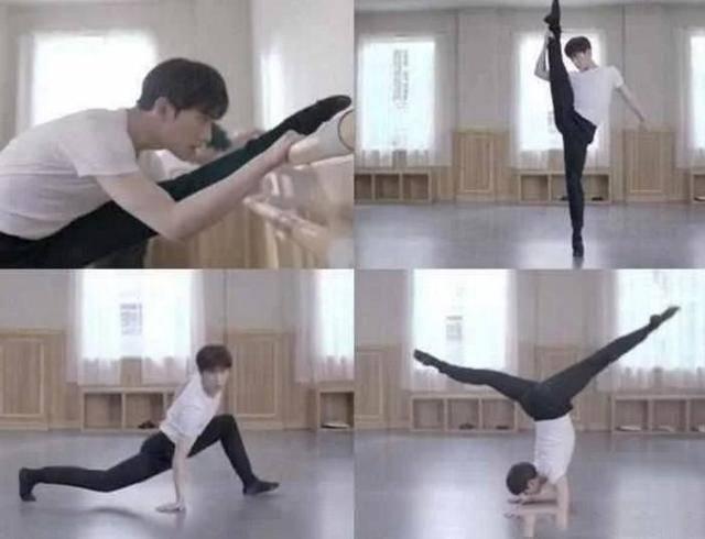 舞蹈出生的杨洋,在练舞室里的他,就这一个姿势,倒立一字马,简直是帅到