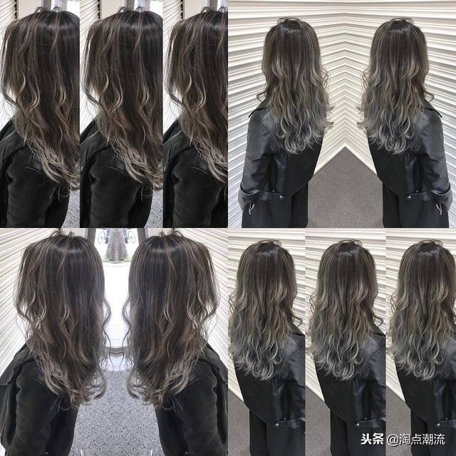 2019发色流行趋势图片_冰蓝黑与亚麻灰棕,2019很流行的发色