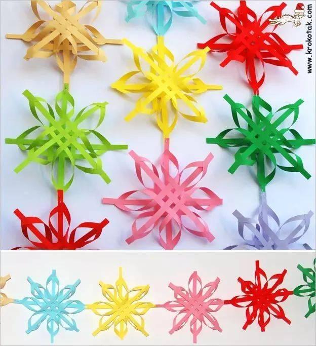 雪花剪纸与吊饰,让冬天的幼儿园更有格调