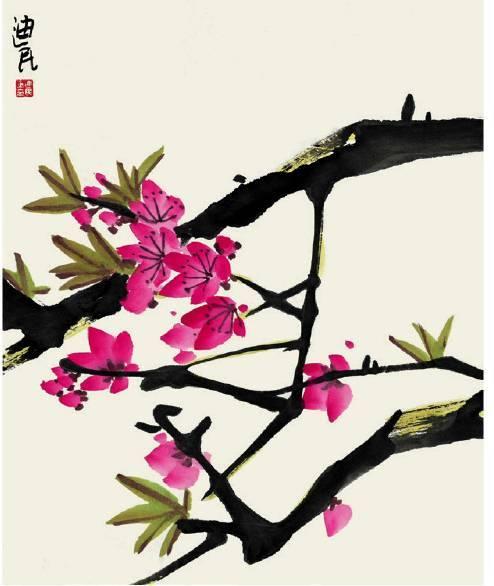 国画基础入门教程——燕子,柳树,桃花的画法