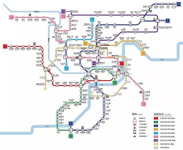 最新重慶軌道交通線路圖圖片