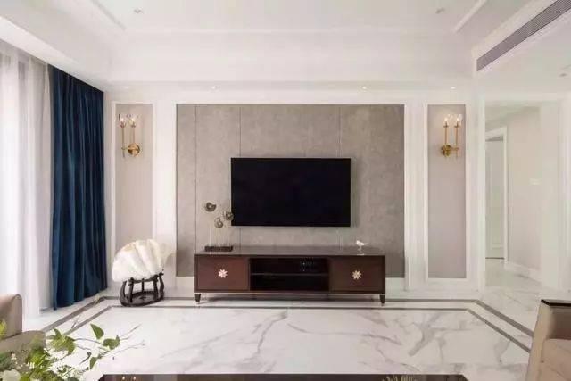 2019年电视背景墙装修,用线条边框打造,简约大气,还特别