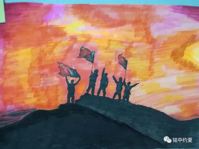 """学校""""我为祖国点赞""""书法绘画比赛结果出炉图片"""