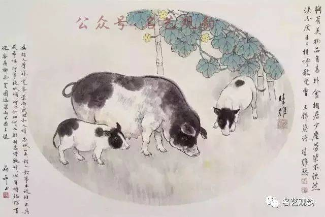 但是当你看了刘继卣画的小猪后,你会感觉到画家童真的另一面!图片