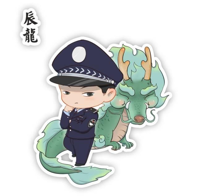 中国警察版十二生肖微信头像