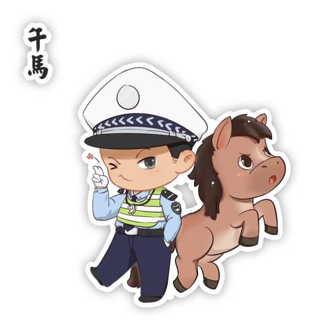 2019警界版十二生肖微信头像