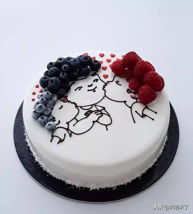 精美蛋糕与你分享! 喷砂蛋糕 来源:全球烘焙指南