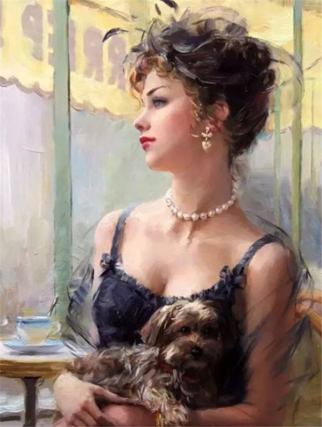 唯美人体油画通过艺术家的画笔,将女性美表现得淋漓尽致
