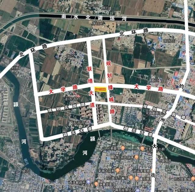 (图中黄色区域为该地块,所用地图源自谷歌卫星地图)