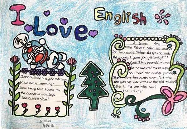 有创意又好看的英语手抄报,寒假必备图片