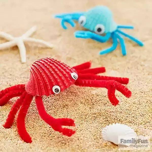 【贝壳手工】超赞,赞,赞的几十种贝壳手工制作,提升幼儿园环创逼格!
