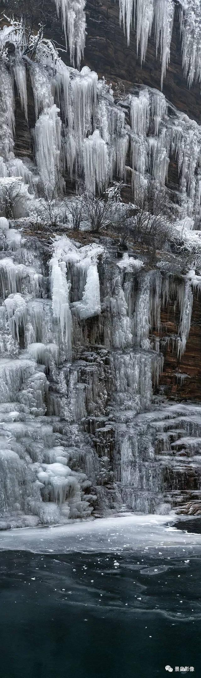 林州:冬季你不曾见到过的风景,数米高的冰墙!图片