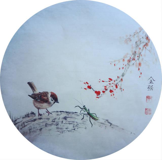 沧州青年实力画家陈金强禅意小品图片