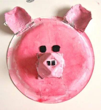 纸盘小猪手工制作图片
