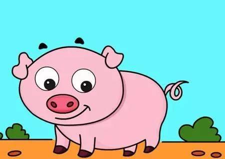 小朋友们可以为小猪画上自己喜欢的背景. 最后为自己的作品图上颜图片