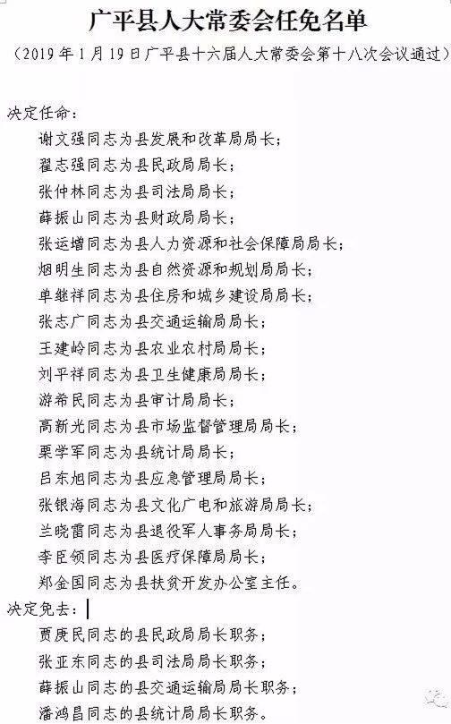 邯郸市最新任免!