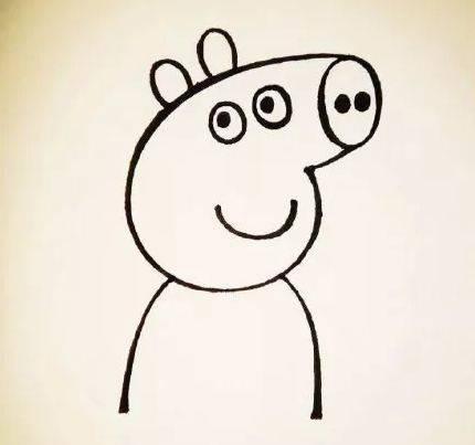 人人都爱的小猪佩奇, 画起来超容易! 放假了在家也能教孩子学画画!图片