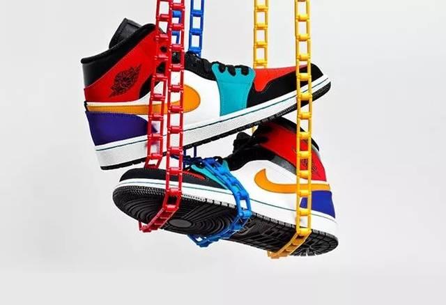 """2f25b5184bf844299660e1e34f729e6e - 五顏六色!Air Jordan 1 Mid """"Multicolor""""全新"""
