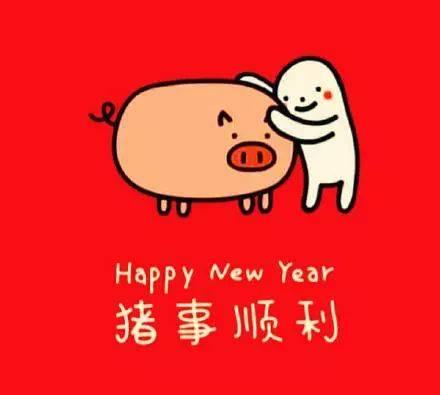 猪年拜年搞笑表情包:祝你猪事顺利图片