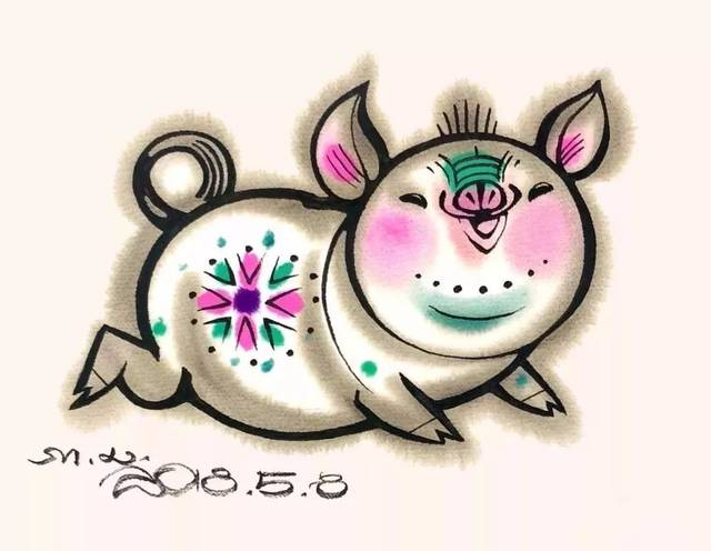 猪年将近,两大名家画猪,甚是好玩!图片