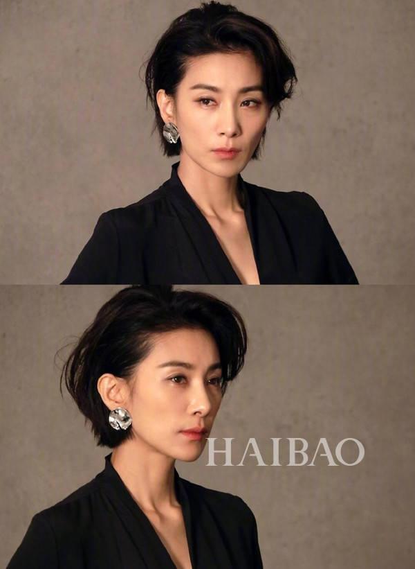 写真韩国女星  摒弃了剧中的盘头,欧尼放下头发来也是超美的,侧分短发图片