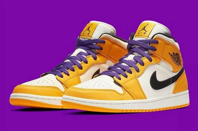 31cf22e7b0a449b6900576d80dc6f3d7 - 新貨鞋報丨Air Jordan 1 Mid 全新「Lakers」湖人配色!