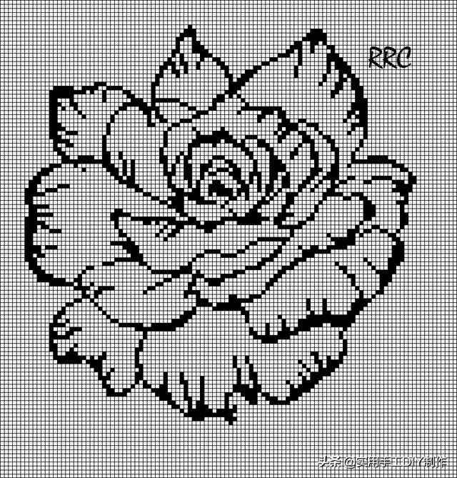 一些关于花朵的十字绣图纸