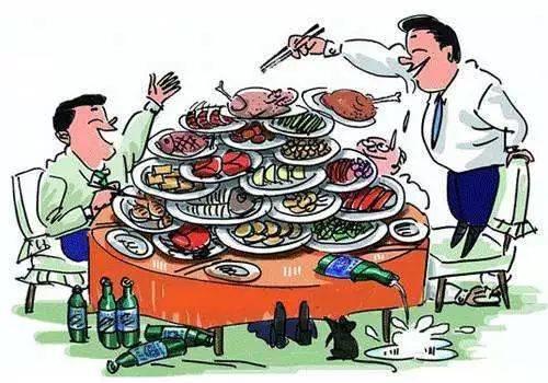 列举了一些春节期间特别需要注意的事项: 烹制食物要熟透 暴饮暴食不图片