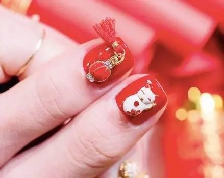 春节红色系美甲的100种打开方式,显白又喜庆!
