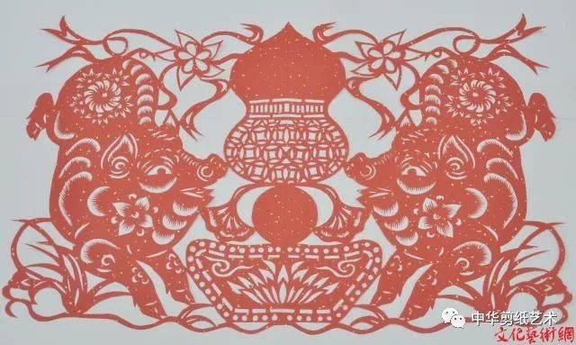 剪纸艺术家艾晓猪年剪纸作品赏析图片