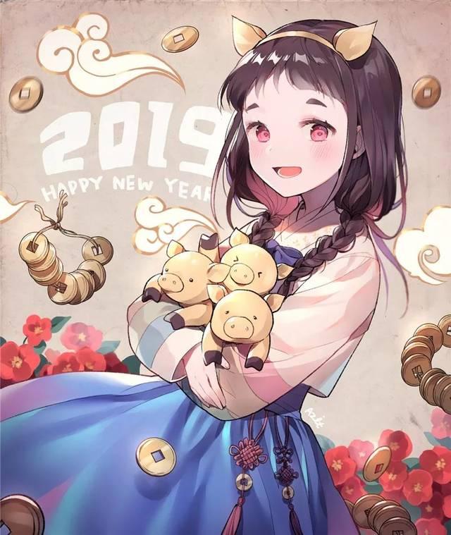 动漫人物壁纸 ·2019新年贺图特辑图片