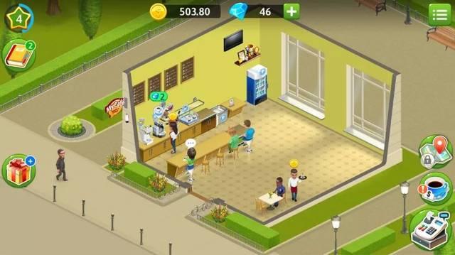 画面和游戏操作颇有几分「模拟人生」的朋友,只不过「你的美食」被圈信微影子人生图片