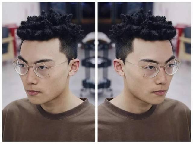 """2019男生最流行的10款""""黑人烫""""发型图片"""
