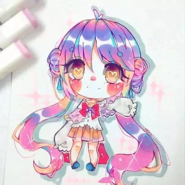超可爱的q版马克笔手绘,很萌很萌!