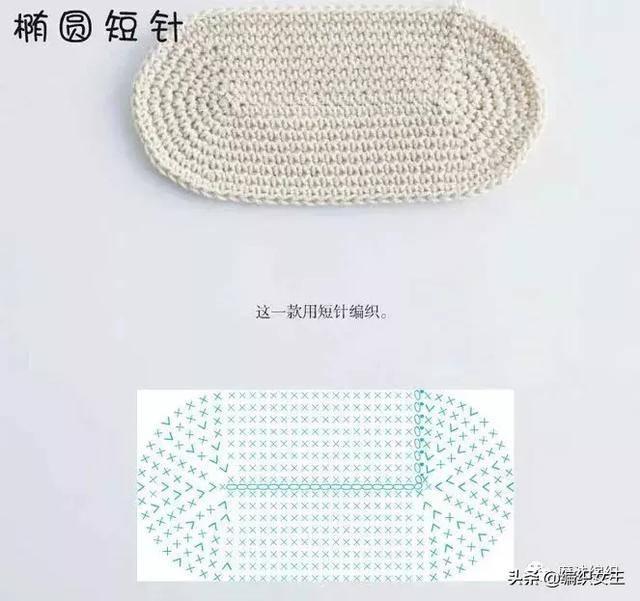 家居毯子垫子钩针手工编织教程