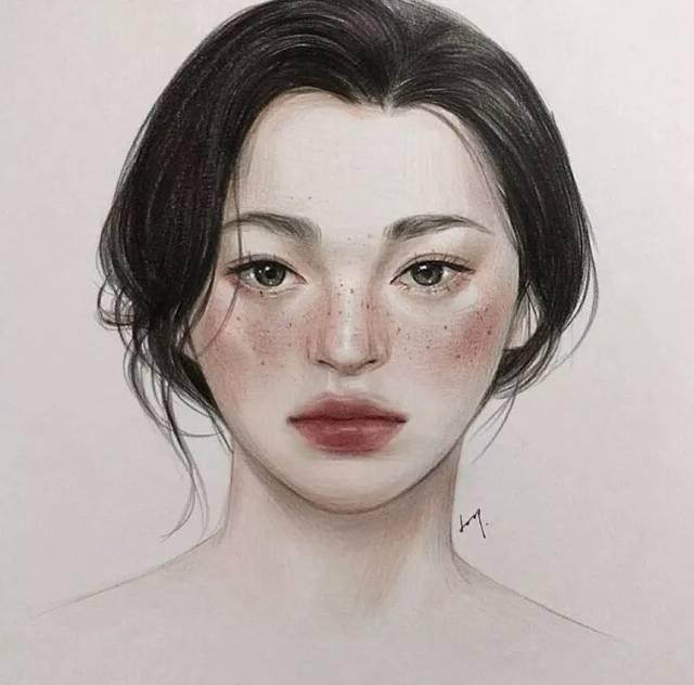 美女五官标准手绘