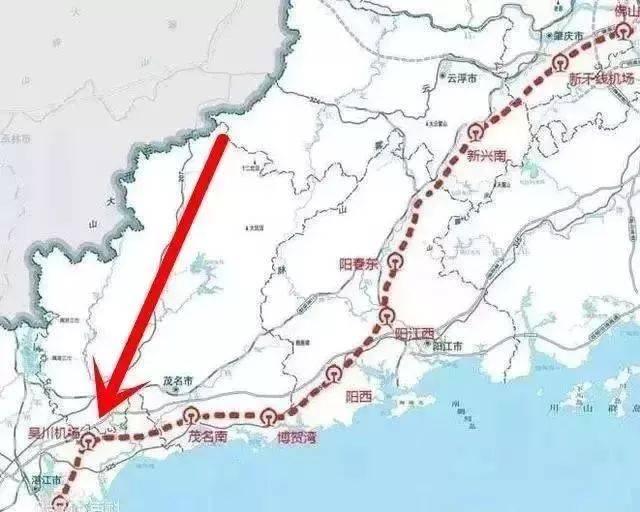 湛江至海安高速铁路(全长124公里,设计时速250公里)