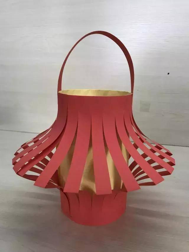 小小传承人:元宵必备纸艺小灯笼手工制作,美美的