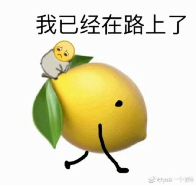 柠檬表情包:柠檬树上柠檬果,柠檬树下只有我图片